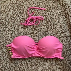 Pink swimsuit top